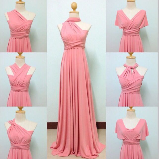 Pastel pink infinity dress 👗