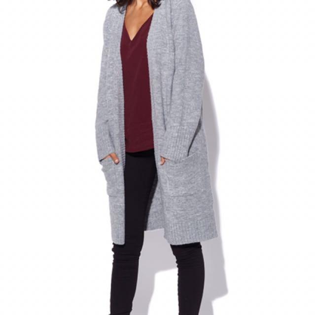 Perfect stranger - grey cardigan (M/10-12)