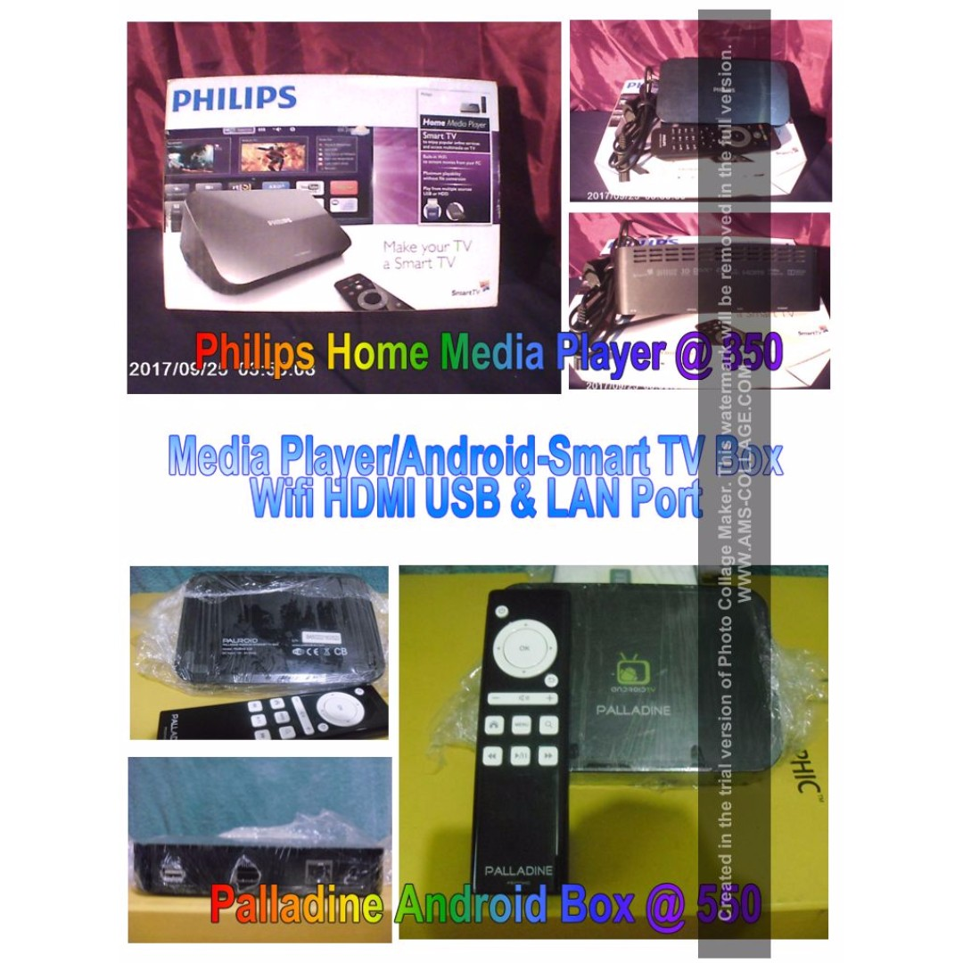 Philips Hame Media Player (SOLD) , Palladine Android Box (All Must Go Price)