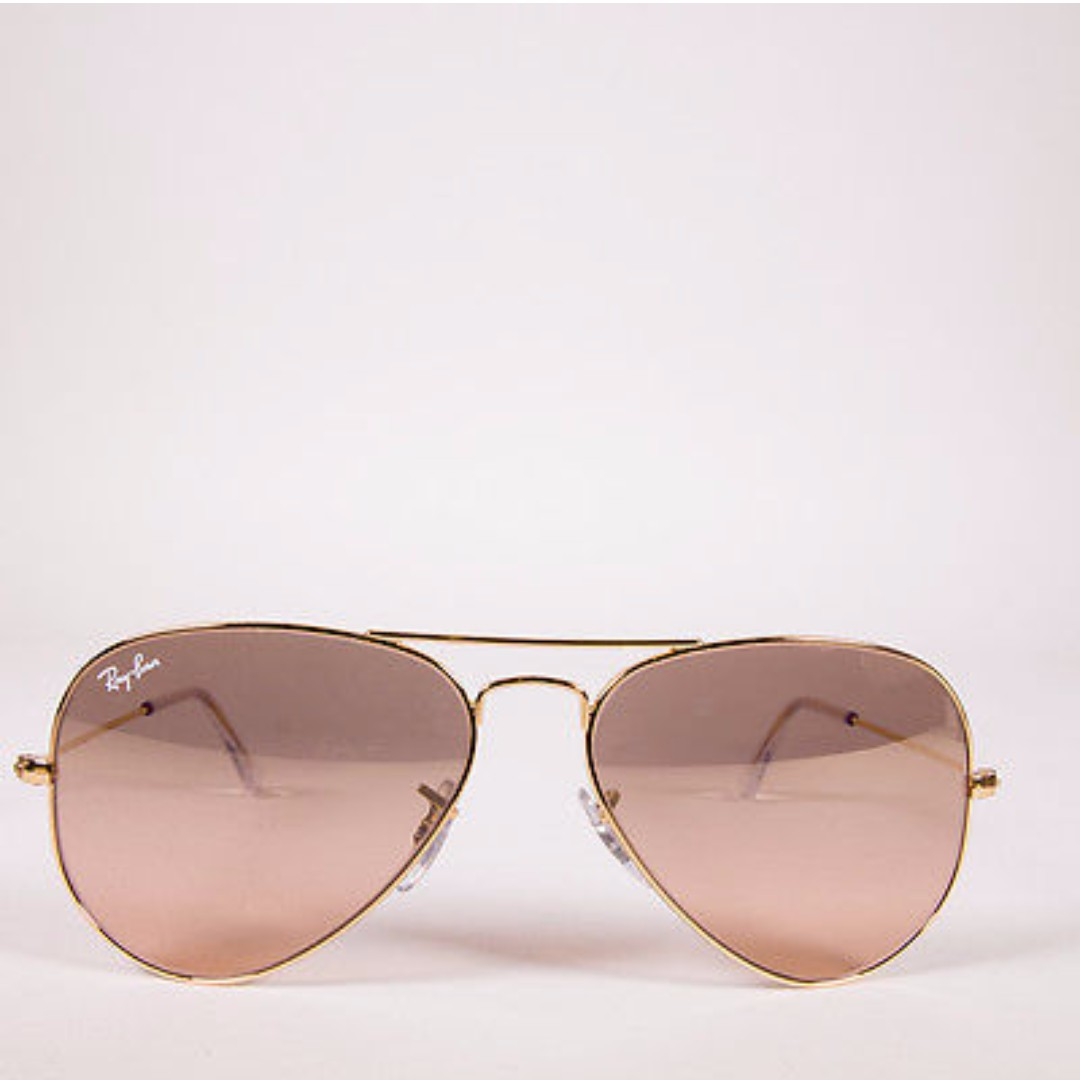 Pink&Gold Ray Ban Aviator Sunglasses