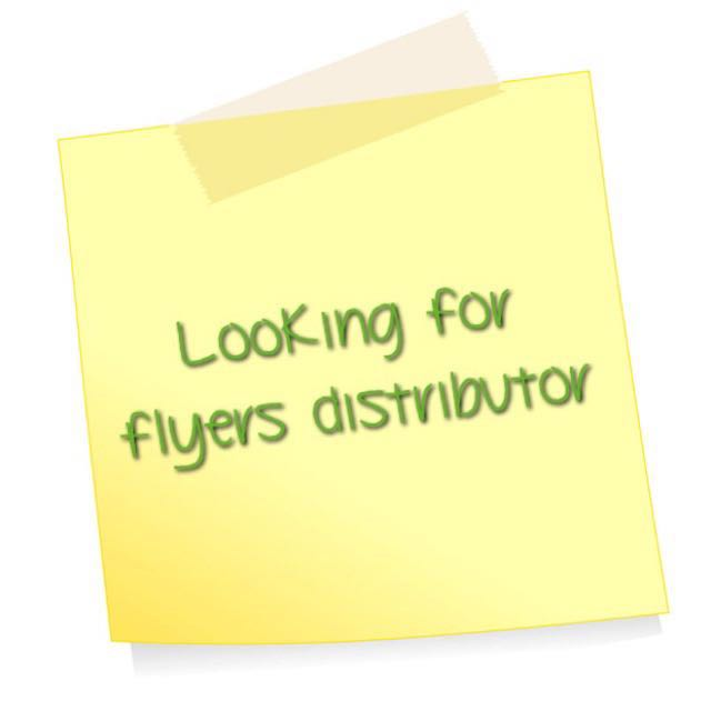 Position Tentatively Taken. Will Update if Need Flyer Distributor