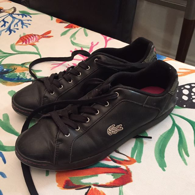PRICE REDUCTION * Lacoste Black And Pink Shoes