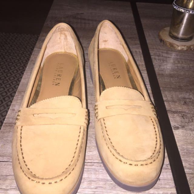 Ralph Lauren Suede Penny Loafers 8.5