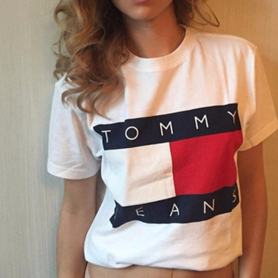 Replica Retro Vintage Style Tommy Jeans T Shirt - Size 14