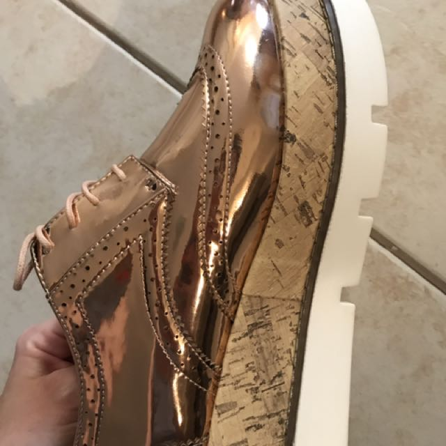 Rose gold platforms