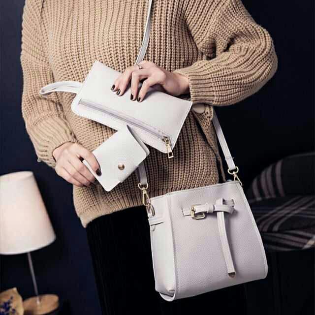 LAST PIECE SALE 4in1 Gray Korean Bag