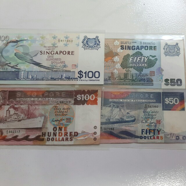 Old paper and polymer bank note