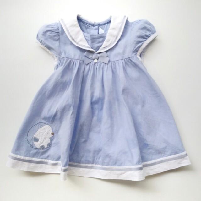 (Size 12-18M) Tartine et Chocolat Girl's Sailor Dress