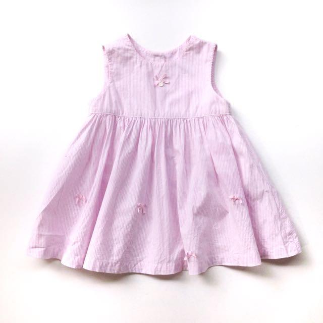 (Size 12-18M) Tartine et Chocolat Summer Pastel Stripes Dress