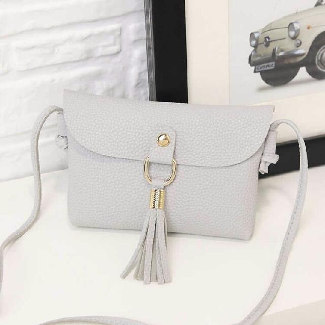 Small Tassel Bag Gray