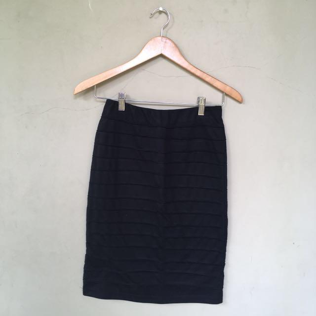 #SSS Bandage Black Midi Skirt