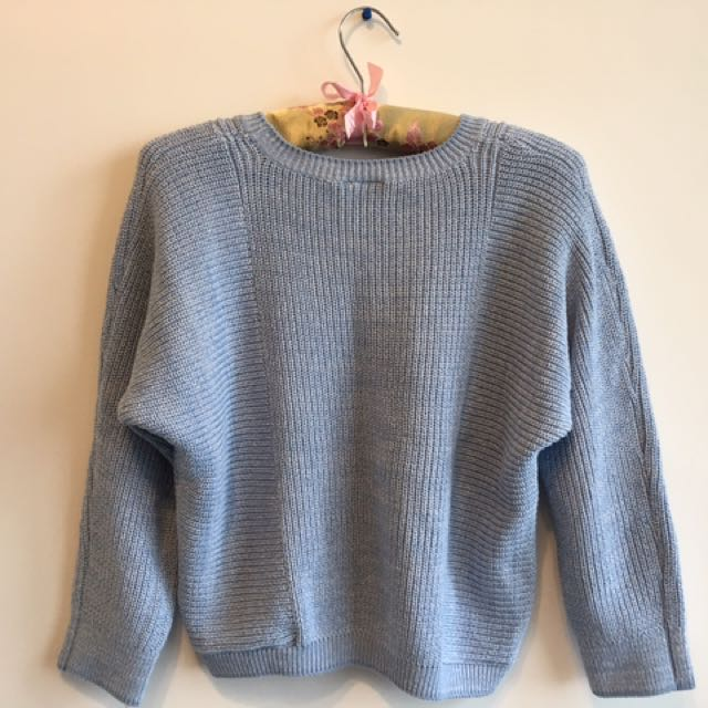 TOPSHOP light blue sweater / cropped jumper