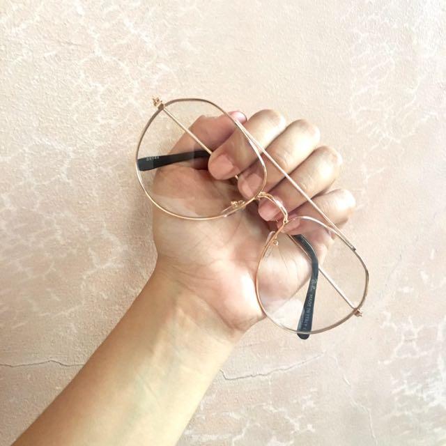 Transparent Aviator Sunglasses