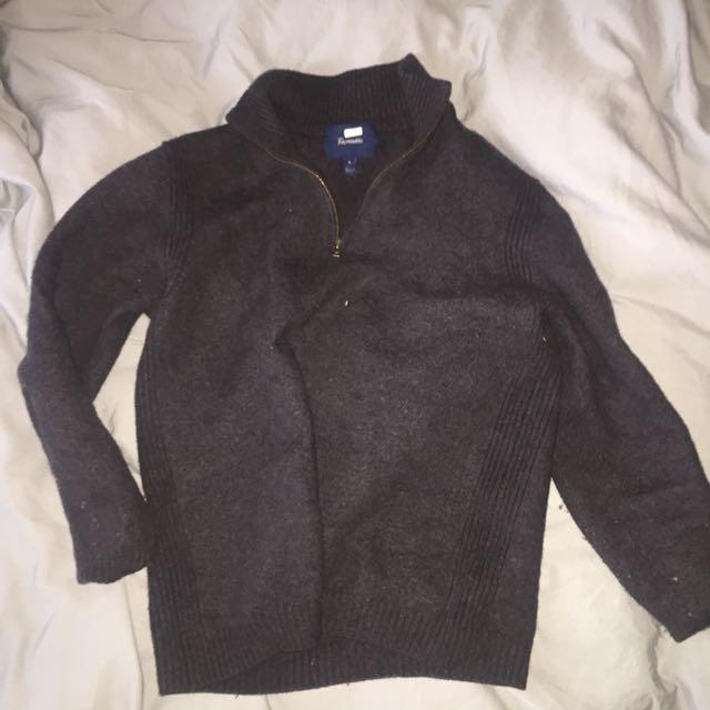 Wool quarter zip