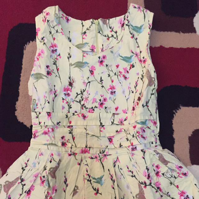 Yellow Span Dress