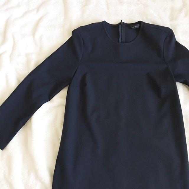 ZARA • Classic navy blue top