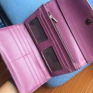 Mulberry purple grey wallet / dompet ungu abu-abu Mulberry