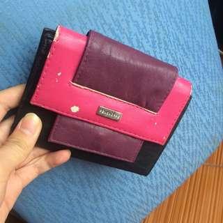 Penshoppe black pink purple wallet / dompet hitam pink ungu
