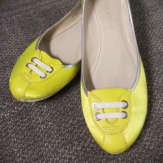 Charles and Keith Neon Yellow Flats