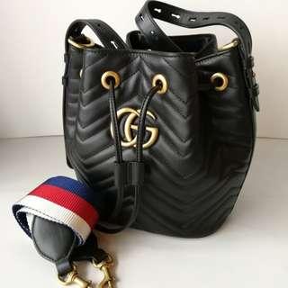 Authentic Gucci Drawstring Bucket Bag