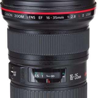 (Lens Rental)Canon EF 16-35 F2.8L II USM