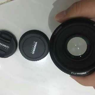 YN EF 50mm f1.8 lens canon mount