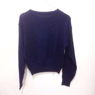 Electric Blue Knit Crop Top