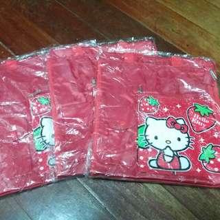 (三個一組)全新凱蒂貓手提袋(可裝八開圖畫紙)