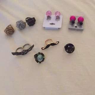 Ring + Earrings Bundle