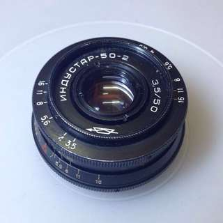 Industar 50-2  50mm f3.5 M42 Vintage lens