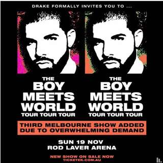 Drake - Boy Meets World Tour - SUN19NOV