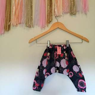 Handmade Baby Girls Kimi Doll Harem Pants, Size 00