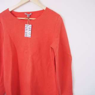 Muted Red Cos Jumper