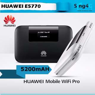 HUAWEI E5770 4g MIFI 150mbps 20hr battery 1LAN Port