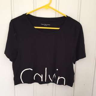 Calvin Klein! Cropped top