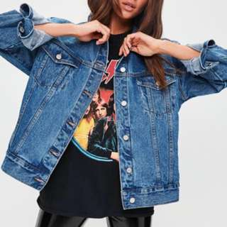 Missguided Oversized Boyfriend Denim Jacket