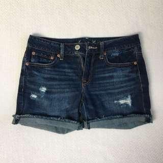 Distressed boyfriend shorts, size 2