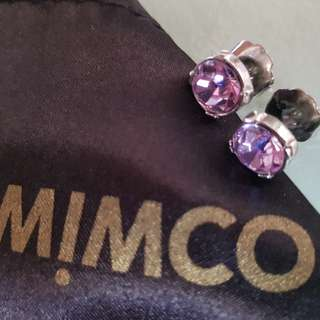 Mimco lilac stud earrings