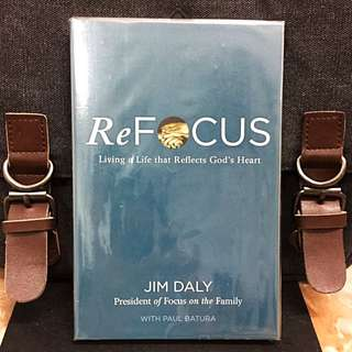 《New Book Condition + Self-Enrichment》Jim Daly - REFOCUS : Living A Life That Reflect God's Heart