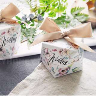 Floral Wedding Candy Gift  Box