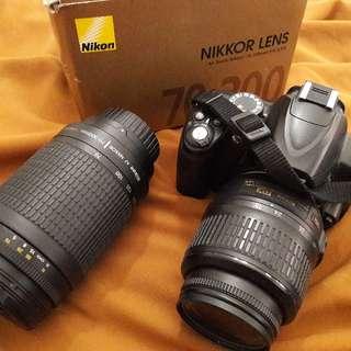 kamera nikon d3000 + lensa 30-700mm