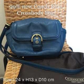Coach Blue Leather Crossbody
