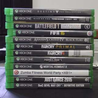 XBOX ONE GAMES for swap also
