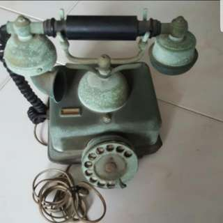 Antique brass dial phone