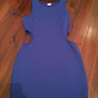 Dress with cut out sides