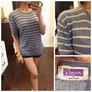 Stripes Stretchable Knit Top