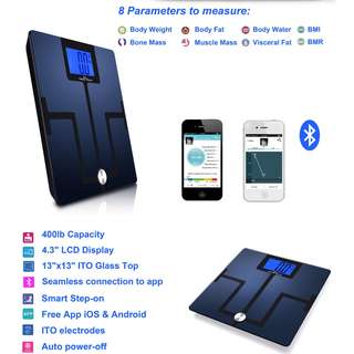 NEW! Bluetooth body fat weight scale - Android & IOS compatible