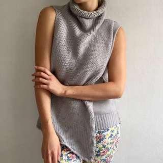 MORRISDAY THE LABEL Grey Knit Turtle Neck Sleeveless