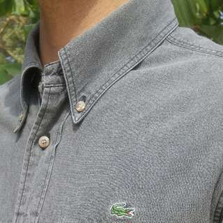 Lacoste short sleeve button up Mens