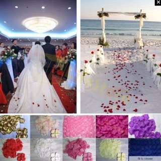 HKA065 - Brand New Colorful Wedding Flower Rose Petals Artificial 500pcs Ceremony Dinner Birthday Party